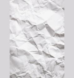 wrinkled white vertical paper vector image