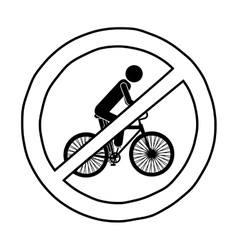 Isolated biker road sign design vector