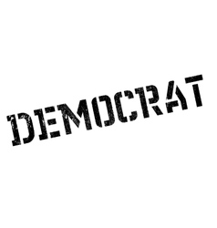 Democrat stamp rubber grunge vector
