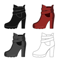 High women red shoes for everyday wear different vector