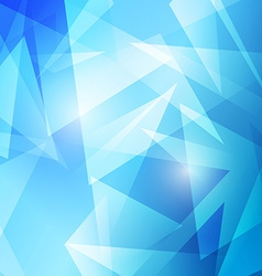 Triangles abstract blue modern background vector