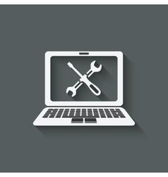 computer repairs symbol vector image