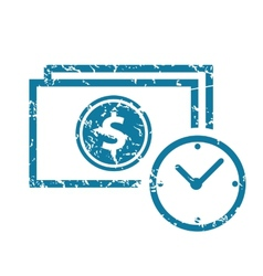 Grunge deal time icon vector