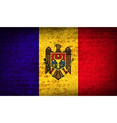 Flags Moldova with dirty paper texture vector image