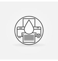 Cartridge refill logo vector image