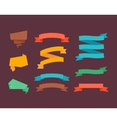 Retro flat ribbons vector image