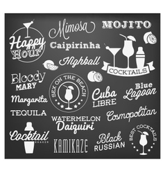 Typographical Drinks Design Elements vector image