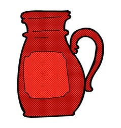 Comic cartoon jug vector