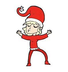 Santas helper comic cartoon vector
