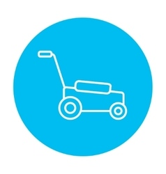 Lawnmover line icon vector
