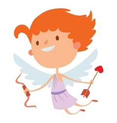 Valentine day cupid angels cartoon style vector