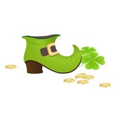 leprechaun boot vector image
