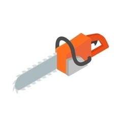 Chainsaw icon isometric 3d style vector