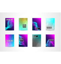 A4 brochure cover mininal design with geometric vector