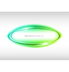 abstract circle on white green vector image