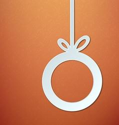 Abstract Paper Christmas Ball vector image