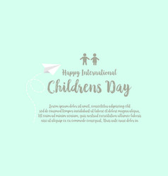Background childrens day design style vector