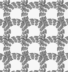Black marker hatched arc cells vector image vector image