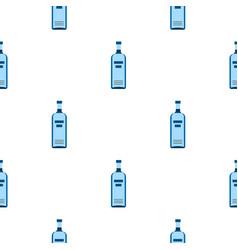 Bottle of vodka pattern flat vector
