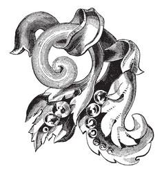 Brooch unique pattern vintage engraving vector