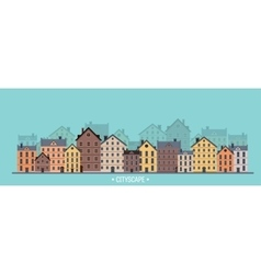 City silhouettes Cityscape vector image vector image