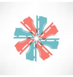 Colored circle of skates vector image vector image