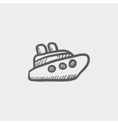 Cruise ship sketch icon vector image vector image