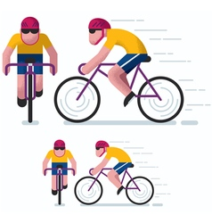Cycling vector image vector image