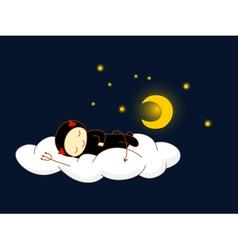 devil sleeping vector image