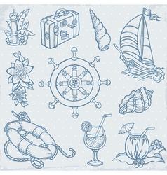 Doodle Travel elements vector image