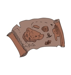 doodle treasure map vector image