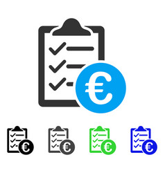 Euro purchase pad flat icon vector