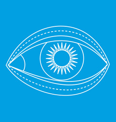 Eyelid surgery icon outline style vector