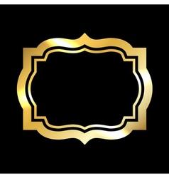 Gold frame simple black vector image