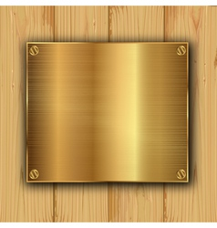 Gold on a wood vector