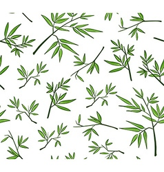 Green bamboo seamless pattern vector