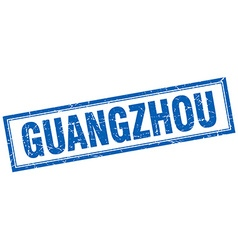 Guangzhou blue square grunge stamp on white vector