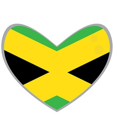 Isolated Jamaican flag vector image vector image