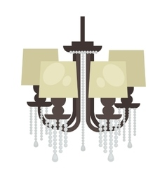Lamp set isolated Interior light design vector image vector image