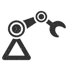 Manipulator icon rubber stamp vector