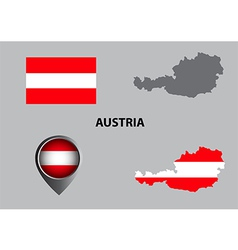 Map of Austria and symbol vector image vector image