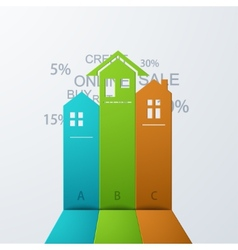 Modern real estate infographic background vector