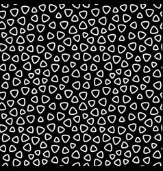 Monochrome seamless pattern rounded lined figures vector