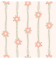 Orange Flower Vine Beige Background vector image