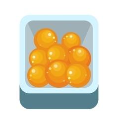 Orange Fruit in Plastic Box vector image vector image