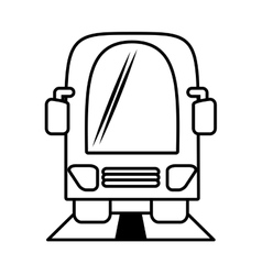 Outline bus vehicule public transport vector