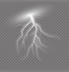 realistic lightning on checkered background vector image