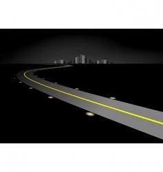 road at night vector image vector image
