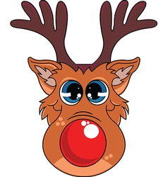 Rudolf the red nosed reindeer vector