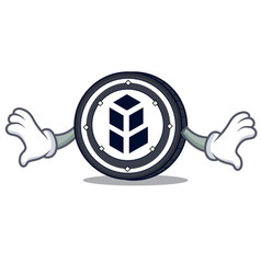 Shock bancor coin mascot cartoon vector